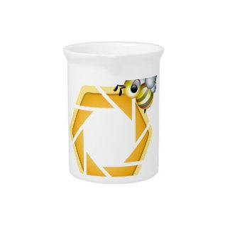 Abeja de la miel de la apicultura jarra de beber