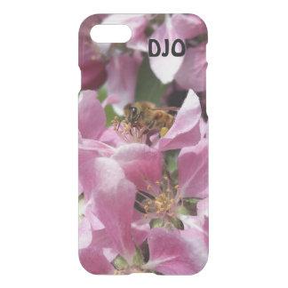 Abeja de la miel en el flor de Crabapple y sus Funda Para iPhone 7