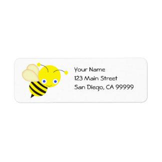 Abeja de la miel etiquetas de remite