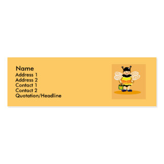 Abeja de la miel feliz tarjetas de negocios