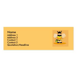 Abeja de la miel feliz tarjetas de visita mini