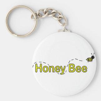Abeja de la miel llaveros