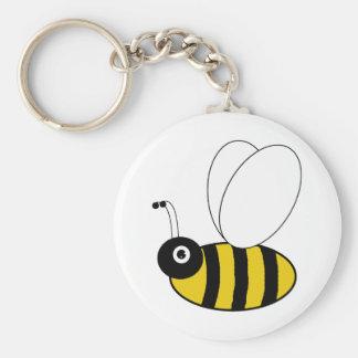 Abeja de la miel llavero redondo tipo pin