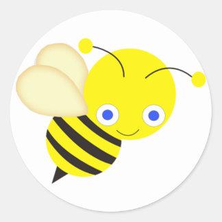 Abeja de la miel pegatinas redondas