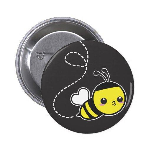 Abeja de la miel pin redondo de 2 pulgadas