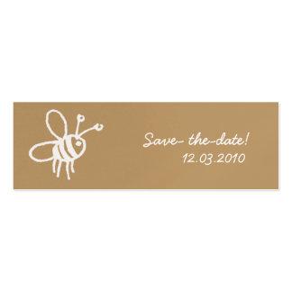 Abeja de la miel plantillas de tarjetas de visita