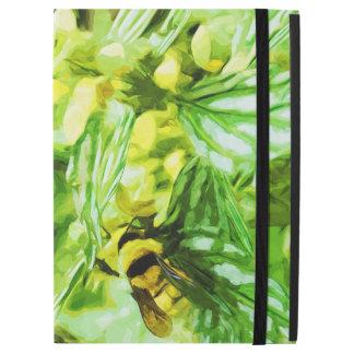 Abeja de la miel que recolecta el polen en