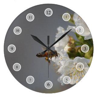 Abeja de la miel reloj redondo grande