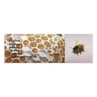 Abeja de la miel tarjetas de visita mini