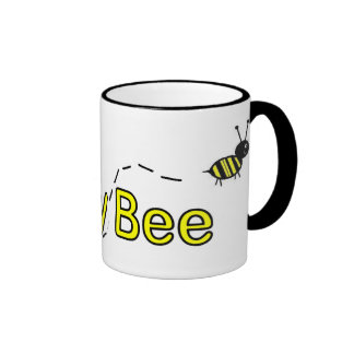 Abeja de la miel tazas de café