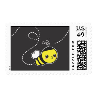 Abeja de la miel timbre postal