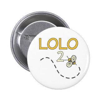 Abeja de Lolo 2 Pin Redondo De 2 Pulgadas