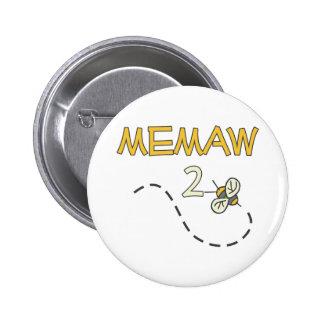 Abeja de Memaw 2 Pin Redondo De 2 Pulgadas
