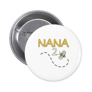 Abeja de Nana 2 Pin Redondo De 2 Pulgadas