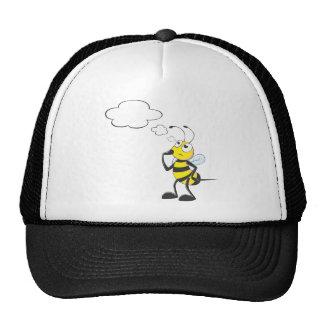 Abeja de pensamiento con la burbuja del pensamient gorras