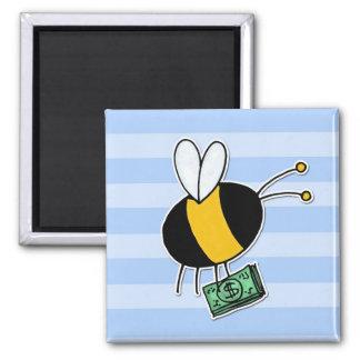 abeja de trabajador - banquero imán de nevera