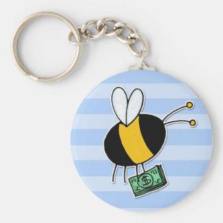 abeja de trabajador - banquero llaveros