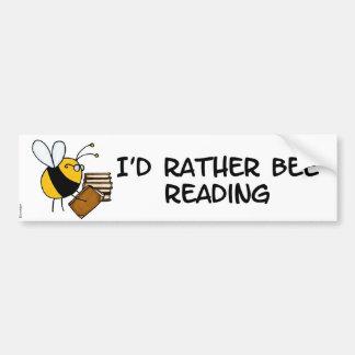 abeja de trabajador - bibliotecario etiqueta de parachoque