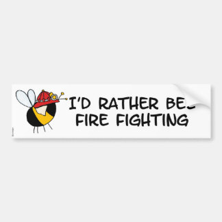 abeja de trabajador - bombero pegatina para auto