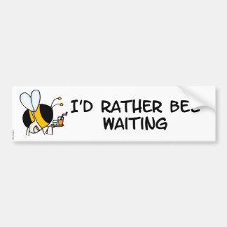 abeja de trabajador - bumpersticker de la camarera etiqueta de parachoque