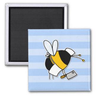 abeja de trabajador - carnicero imán de nevera