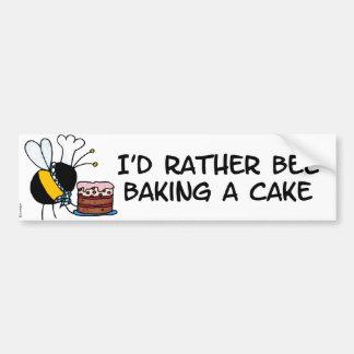 abeja de trabajador - chef de repostería pegatina para auto