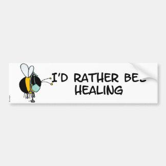 abeja de trabajador - doctor pegatina para auto
