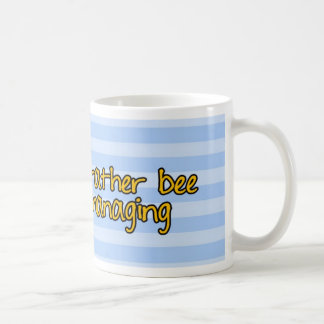 abeja de trabajador - encargado taza de café