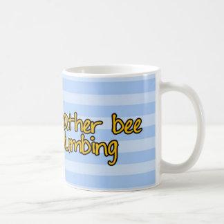 abeja de trabajador - fontanero taza básica blanca