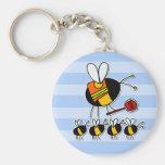 abeja de trabajador - guardia de travesía llavero redondo tipo pin
