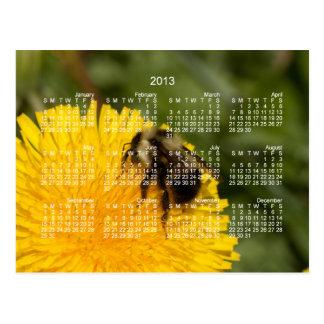 Abeja de trabajador linda; Calendario 2013 Postales