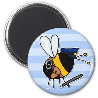 abeja de trabajador - oficial de policía imán redondo 5 cm