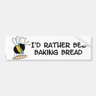 abeja de trabajador - panadero pegatina para auto