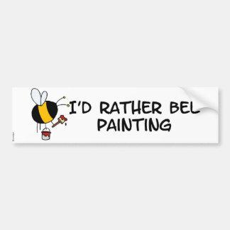 abeja de trabajador - pintor etiqueta de parachoque