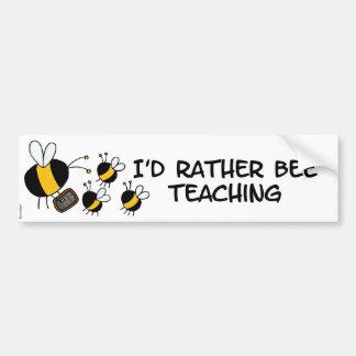 abeja de trabajador - profesor etiqueta de parachoque