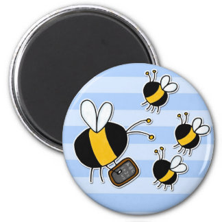 abeja de trabajador - profesor imán redondo 5 cm