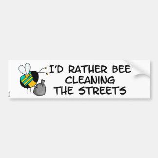 abeja de trabajador - trabajador del saneamiento pegatina para auto