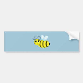 Abeja de zumbido linda de la miel pegatina para auto