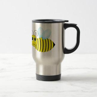 Abeja de zumbido linda de la miel taza de viaje