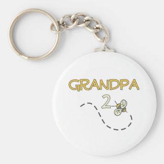 Abeja del abuelo 2 llavero personalizado