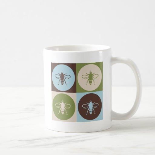Abeja del arte pop tazas de café