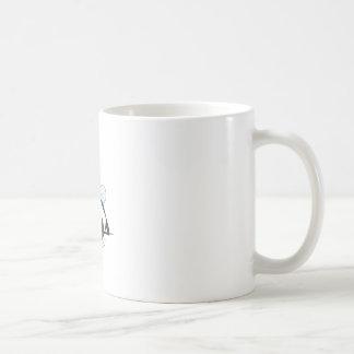 Abeja del baile taza básica blanca
