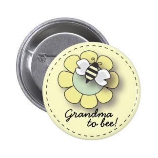 Abeja del bebé en abuela amarilla neutral al Pin d