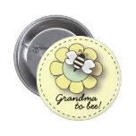 Abeja del bebé en abuela amarilla neutral al Pin d Pin Redondo 5 Cm