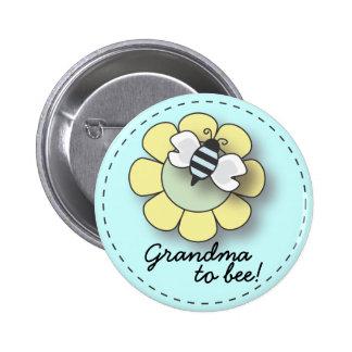 """Abeja del bebé en abuela azul al Pin de la """"abeja"""""""