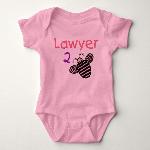 Abeja del chica 2 del abogado body para bebé