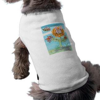 Abeja del conejito de la maravilla, mariposa y señ camisas de mascota