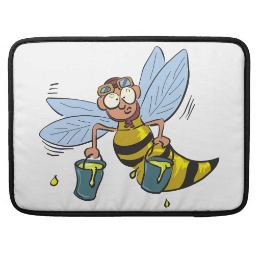 Abeja del dibujo animado de la miel funda macbook pro