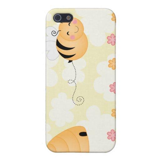 Abeja del dibujo animado y caso lindos del iphone  iPhone 5 fundas
