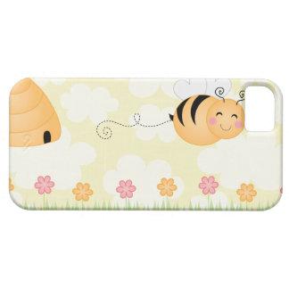 Abeja del dibujo animado y caso lindos del iphone funda para iPhone SE/5/5s